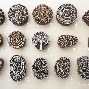 Индийские штампы для керамики