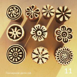 Деревянные индийские штампы для керамики