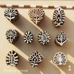 1. Деревянные индийские штампы для керамики