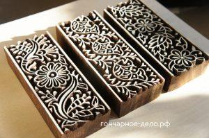 Индийские штампы для отпечатков на глине