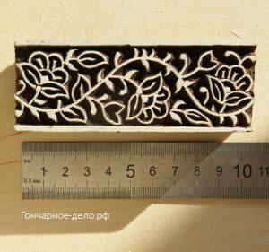 Индийский штамп для отпечатков на глине