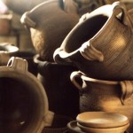 Pots with handles