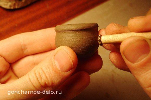 Гончарное дело. Отпечатки на глине. Инструменты