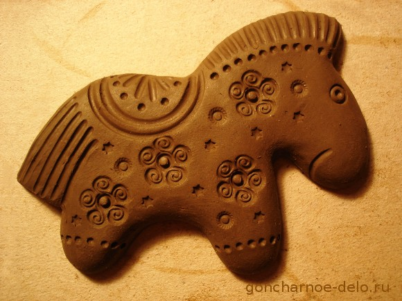 Сlay molding. Horse - the symbol of the new year