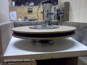 Устанавливаем шкив на самодельном гончарном круге