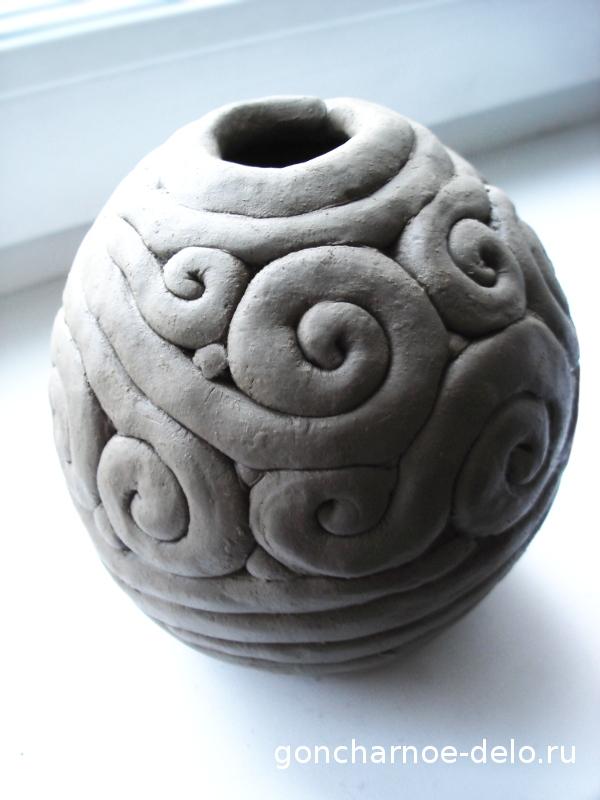 Как слепить из глины вазу