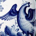 Синяя птица Гжель
