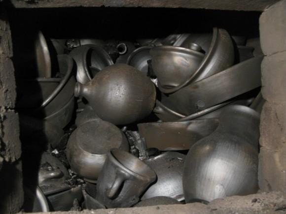 Чернение керамики. Восстановительный обжиг