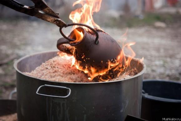 Дымление керамики