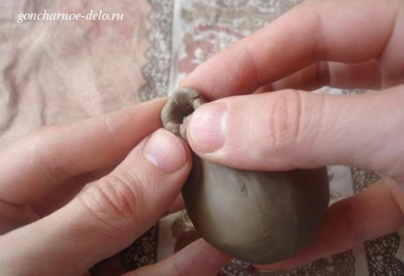 Лепим из глины птичку-свистульку
