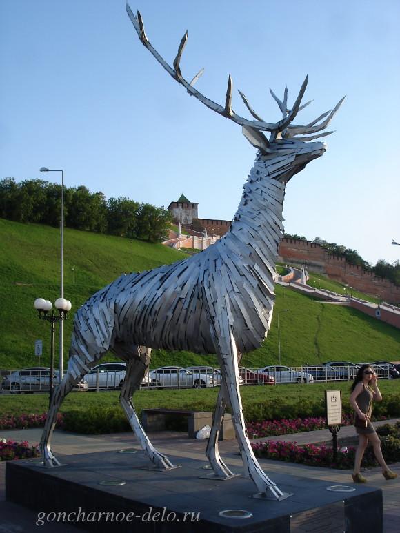 Скульптура Оленя в Нижнем Новгороде