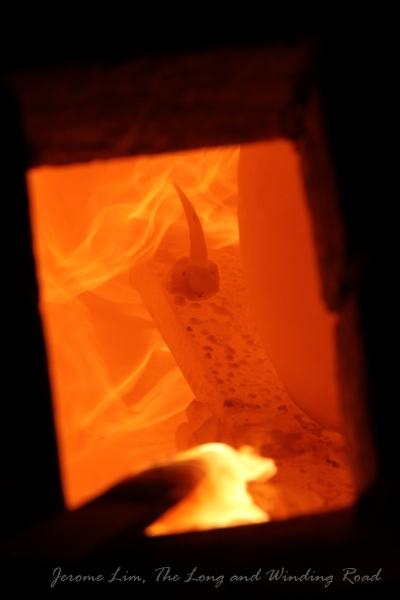 Пирометрический конус в печи