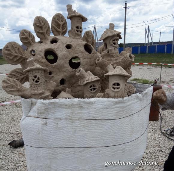 Огненная скульптура - заворачиваем в огнеупорный картон
