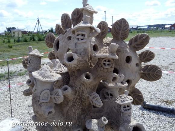 Огненная скульптура - завершение лепки