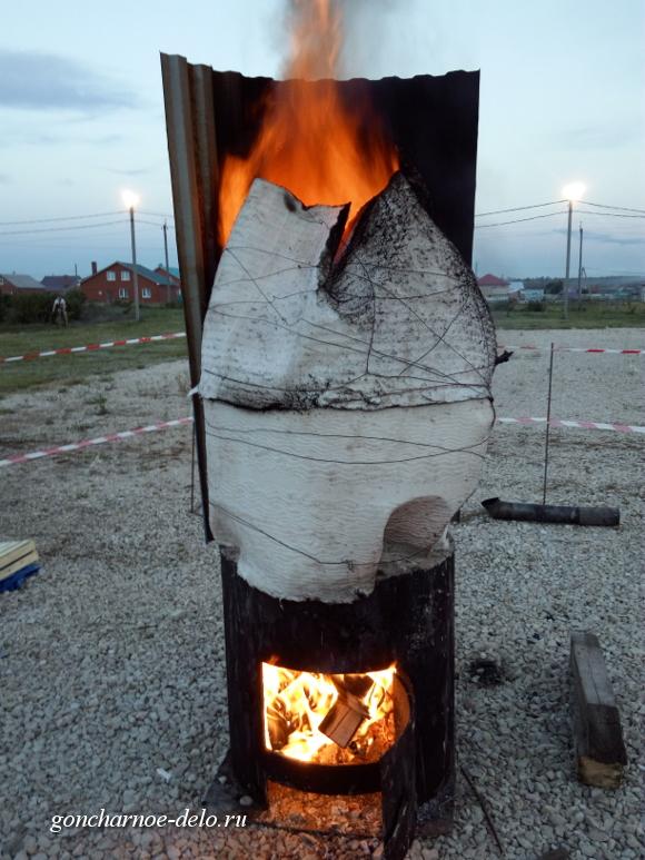 Обжиг огненной скульптуры