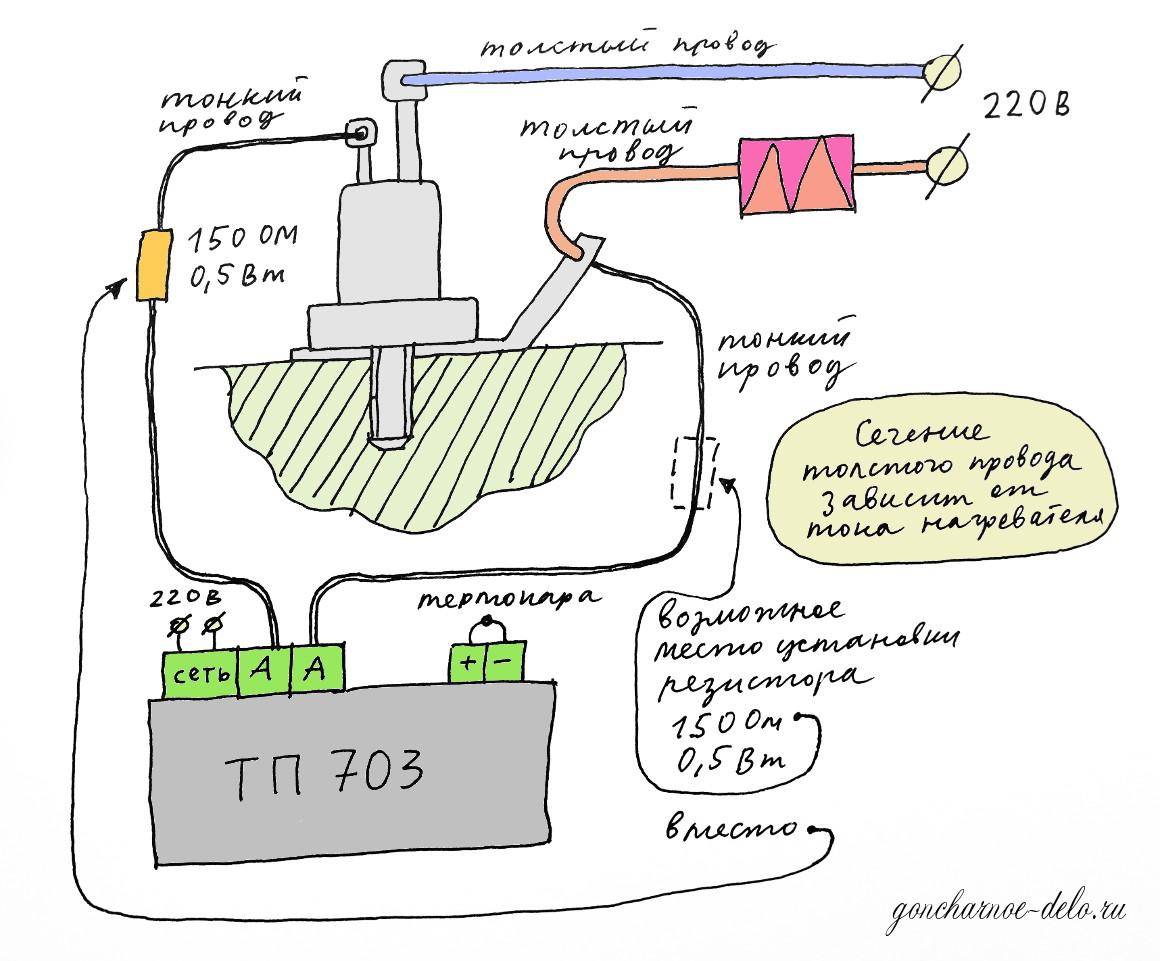 Муфельная печь с терморегулятором своими руками 46