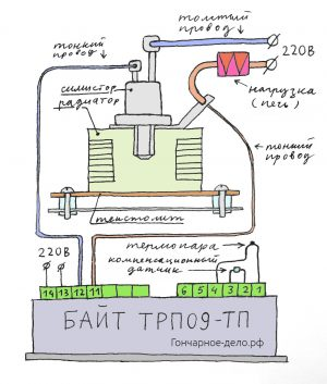 Байт ТРП09-ТП - схема подключения