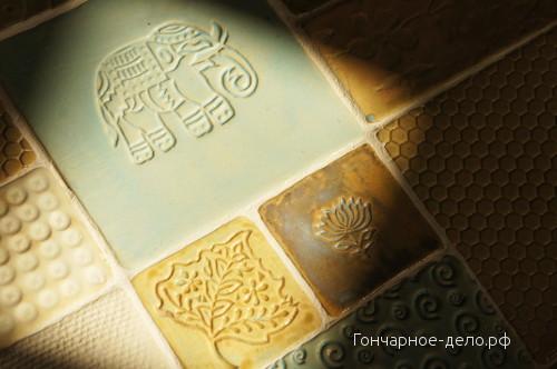Индийские деревянные штампы - отпечатки на глине