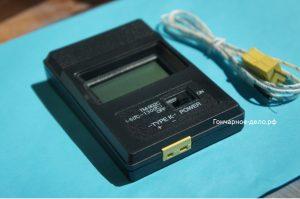 Цифровой измеритель температуры для термопары Хромель-алюмель