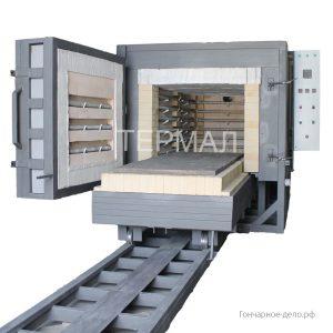 Печь для обжига керамики с выкатным подом