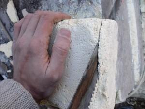 File edges on the bricks