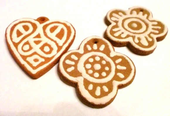 Clay cookies for New Year