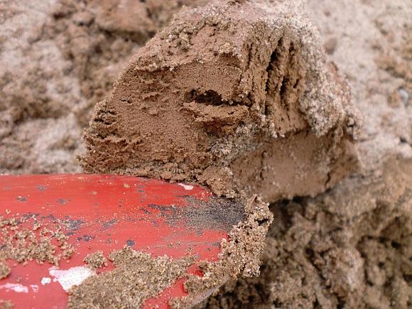Очищаем глину от песка