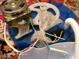 Гончарный круг своими руками - провода в пакете