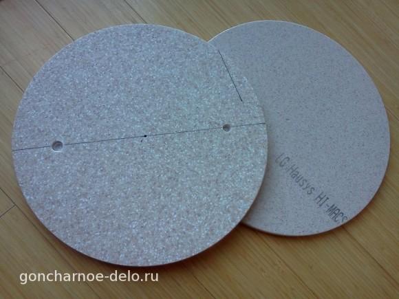 Рабочий круг с отверстиями для штифтов