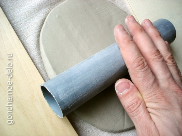 Roll clay with a rolling-pin