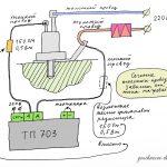 Блок управления муфельной печью. Схема подключения терморегулятора Варта ТП703